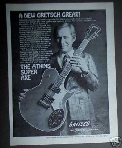 Chet Atkins Photo Gretsch Super Axe Guitar (1978)