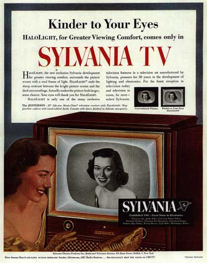 Sylvania Electronic Product's Television – Kinder to Your Eyes (1952)