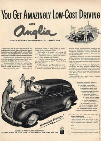 Rare Full Page Anglia Race Car Racing Ad T (1949)