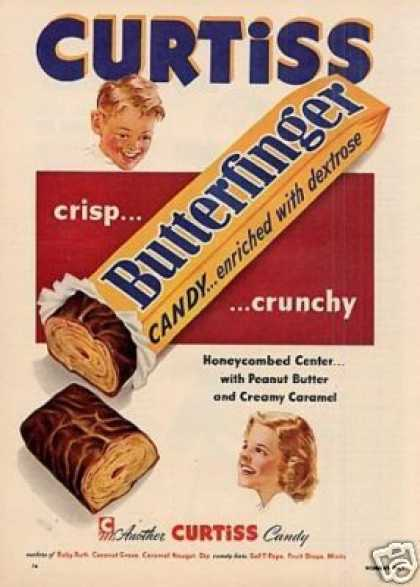 Curtiss Butterfinger Candy Bar (1953)
