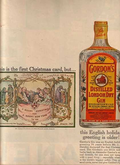 Gordon's Distilled London Dry Gin (1961)