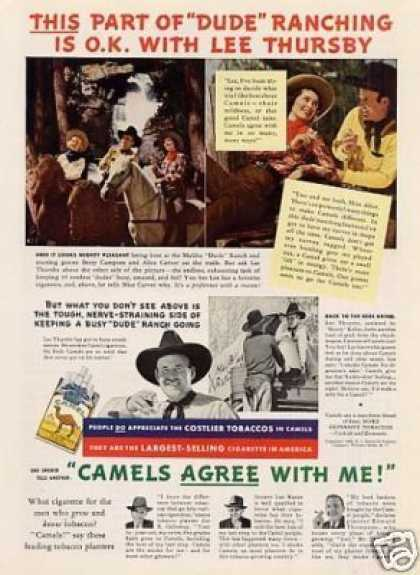"Camel Cigarettes Ad ""This Part of Dude Ranching... (1938)"