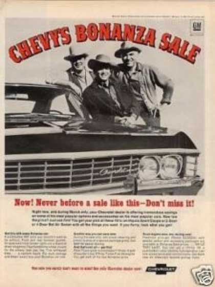 Chevrolet Car Ad Bonanza Gang (1967)
