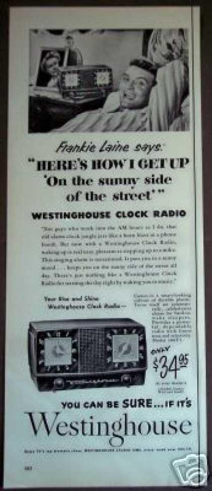 Frankie Laine Photo Westinghouse Clock Radio (1953)