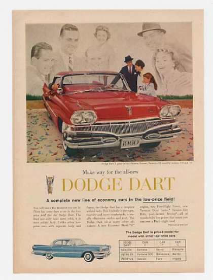 '59 1960 Red Dodge Dart Economy Low Price (1959)