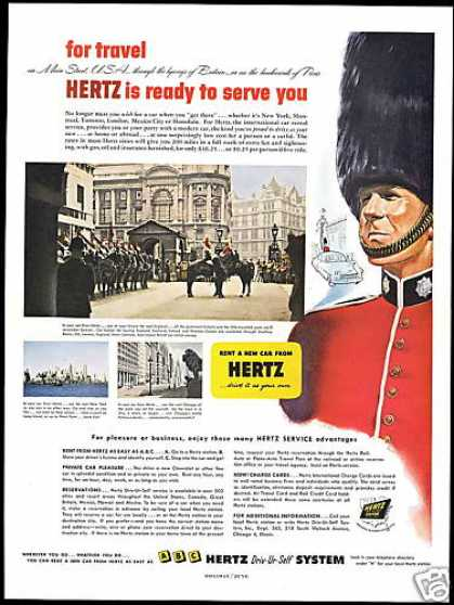 England Royal Guard Hertz Rent A Car (1952)