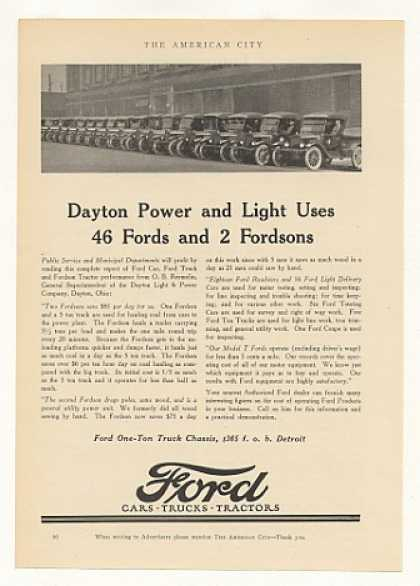 Dayton Power and Light Ford Trucks (1925)