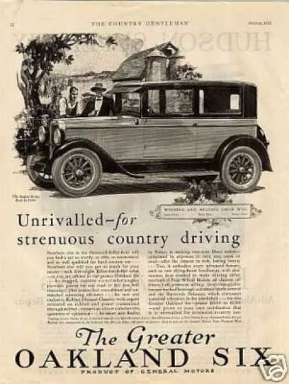 "Oakland Six Car Ad ""Unrivalled For... (1926)"
