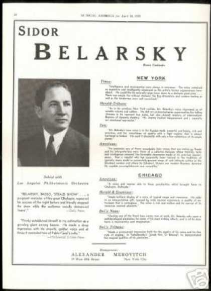 Sidor Belarsky Vintage Photo Reviews (1939)
