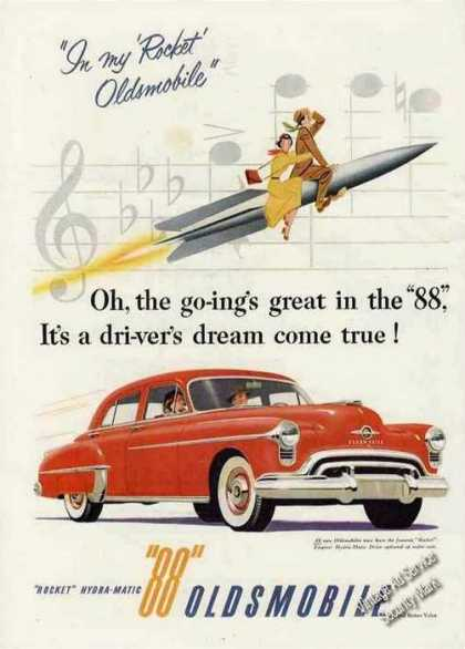 "Red Oldsmobile 88 ""Rocket"" Collectible (1951)"