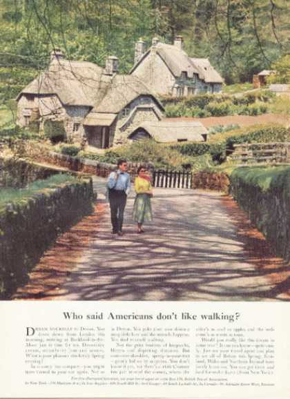 British Travel Ad Devon England Great Britian (1958)