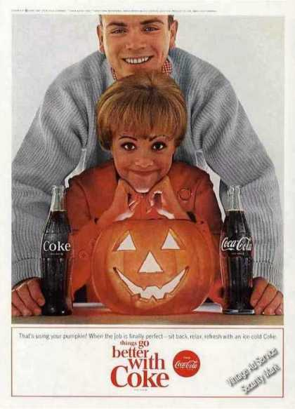 Coke Coca-cola Couple With Pumpkin Nice (1964)