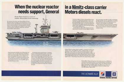 Nimitz Carrier Ship General Motors Generator 3P (1986)