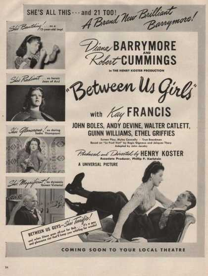 Movie Between Us Girls Barrymore Cummings (1942)