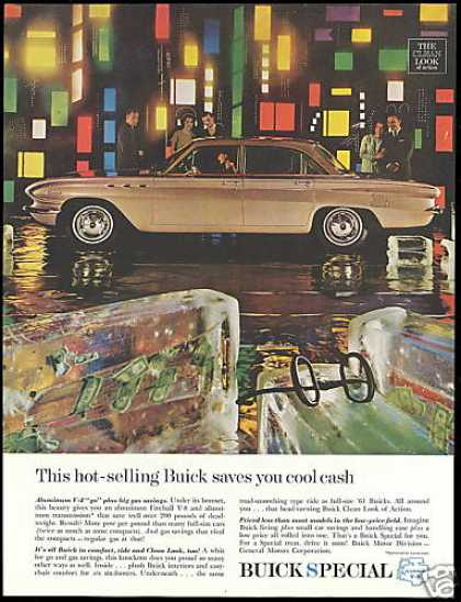 Tan Buick Special 4dr Car Photo Vintage (1961)
