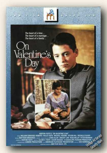 On Valentine's Day Movie Rare (1986)