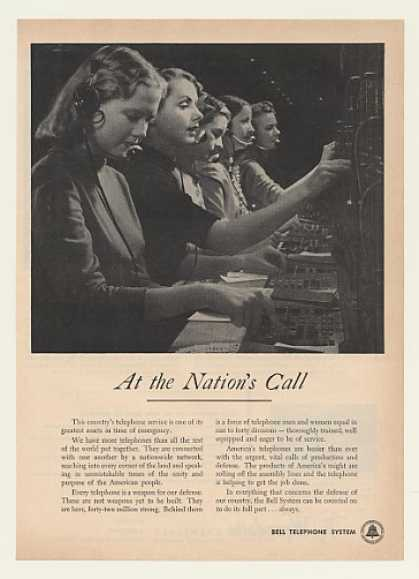 Bell Telephone Operators Switchboard Defense (1951)