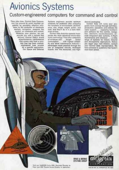 Impressive Avionics Systems Art Control Data (1968)
