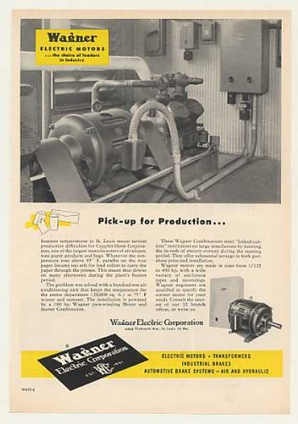 Cupples-Hesse Corp Wagner Electric Motor (1952)