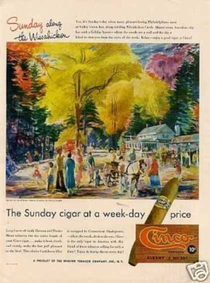Cinco Cigar Ad Francis Speight Art (1947)