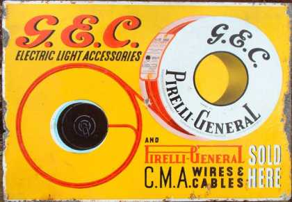Pirelli Cables Sign