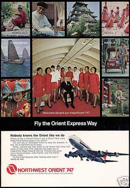 Northwest Orient Airlines 747 Stewardess (1971)