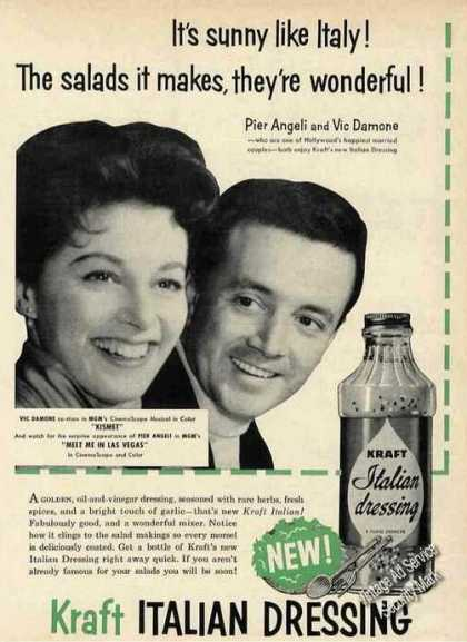 Pier Angeli & Vic Damone Kraft Italian Dressing (1956)