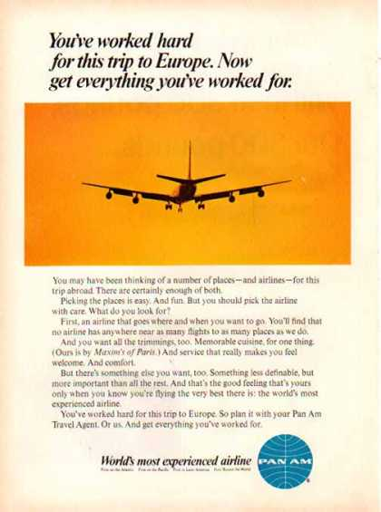 Pan Am Airlines – Most Experienced Airline (1967)