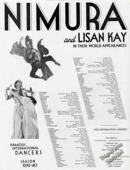 Nimura & Lisan Kay Photos Dancers Booking (1939)