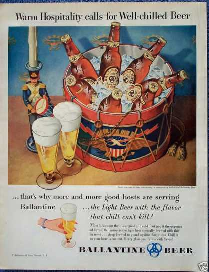 Ballantine Beer Patriotic Drum Soldier Cooler (1954)