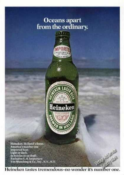 Heineken Beer at Ocean Edge Color Advertising (1974)