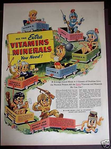 Ovaltine Vitamins & Minerals Cartoons (1944)