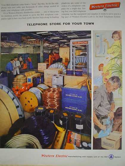 Western Electric Telephone Store for your town (1958)