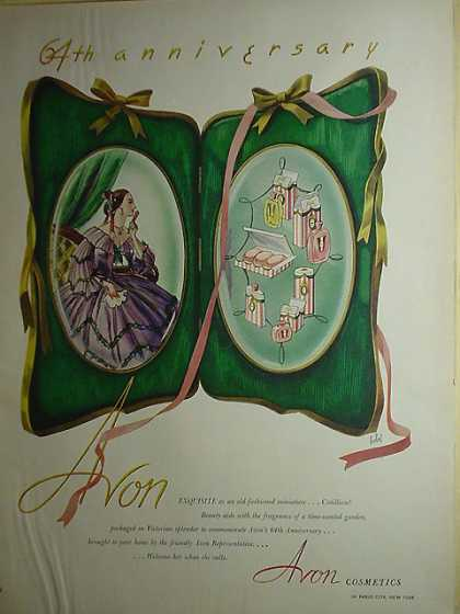 Avon Cosmetics 64th anniversary (1950)