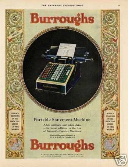 Burroughs Portable Statement Machine Color (1928)