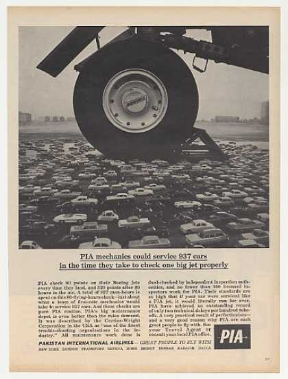 PIA Pakistan International Airlines Jet Wheel (1963)
