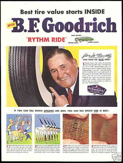 Baseball Joe McCarthy BF Goodrich Tire (1950)