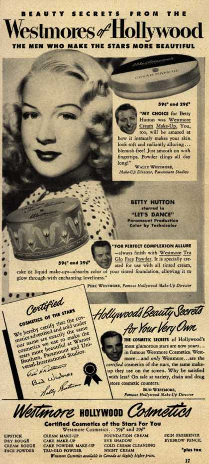 Westmore Cosmetic's Various – Westmores of Hollywood (1950)