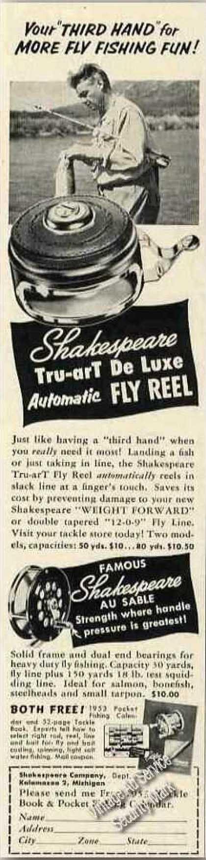 Shakespeare Tru-art Fly Reel Photo Rare (1953)