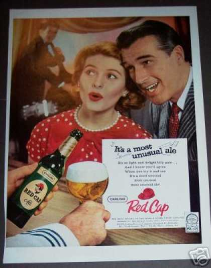 Red Cap Ale Retro Photo Bar Art (1958)