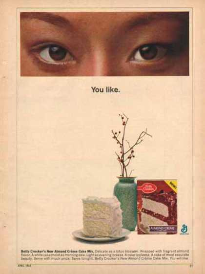 Betty Crocker Almond Cr̬me Cake Mix РYou like (1965)