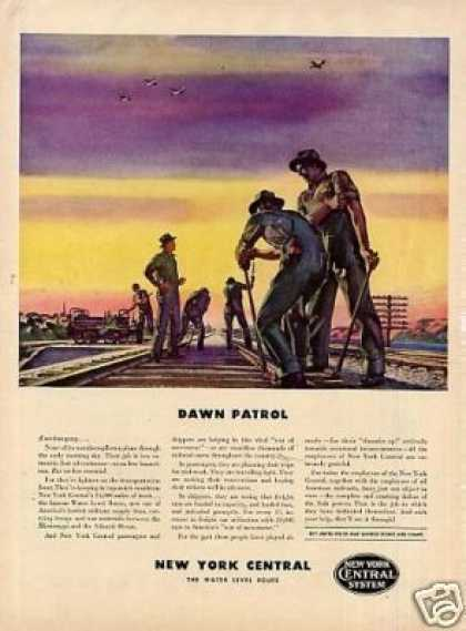 "New York Central Railroad Ad ""Dawn Patrol... (1942)"