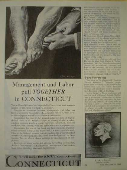 Management and Labor pull together in Connecticut (1945)