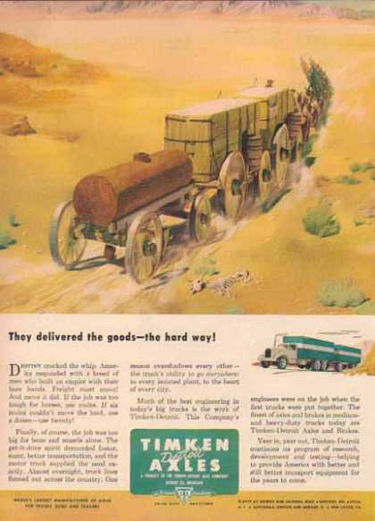 Timken Detroit Axles – Moving freight the hard way (1949)