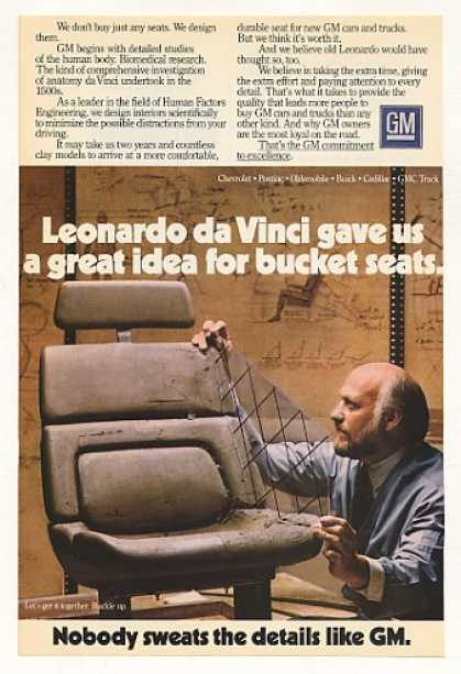 GM Bucket Seat Leonardo da Vinci Idea (1984)