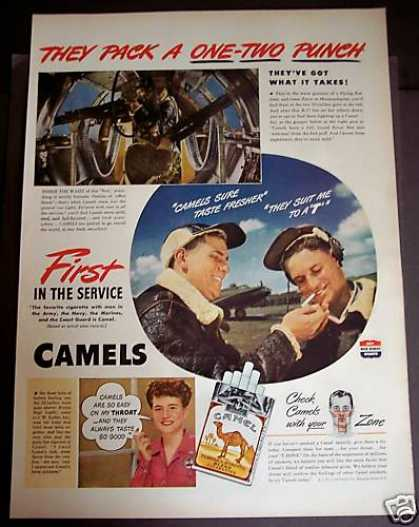Favorite Cigarette of Military Camel Cigarettes (1944)