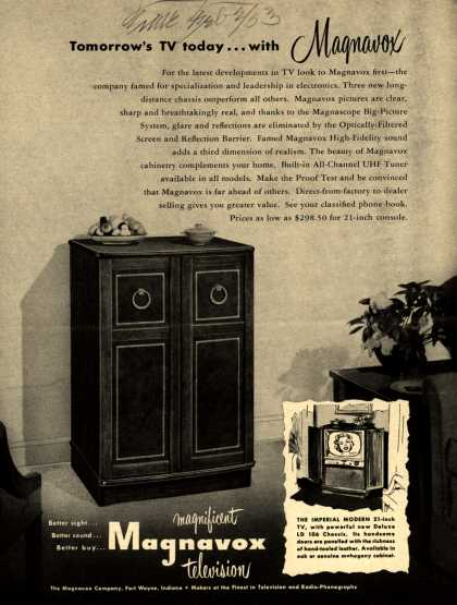 Magnavox Company's Television – Tomorrow's TV today... with Magnavox (1953)