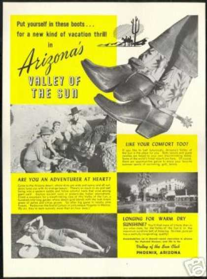 Cowboy Boots Spurs Phoenix Arizona Travel (1946)