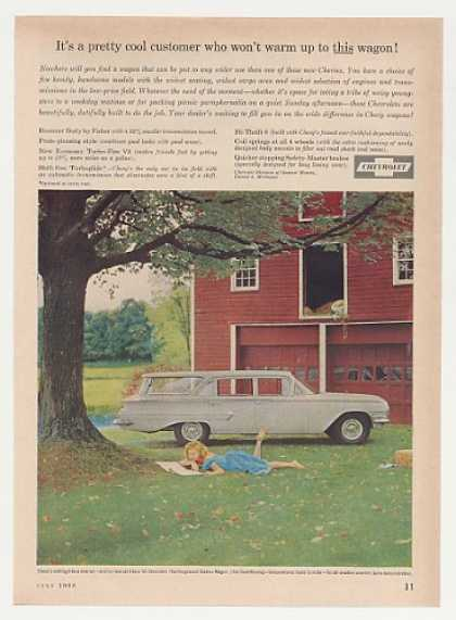 Chevy Kingswood Station Wagon Red Barn (1960)