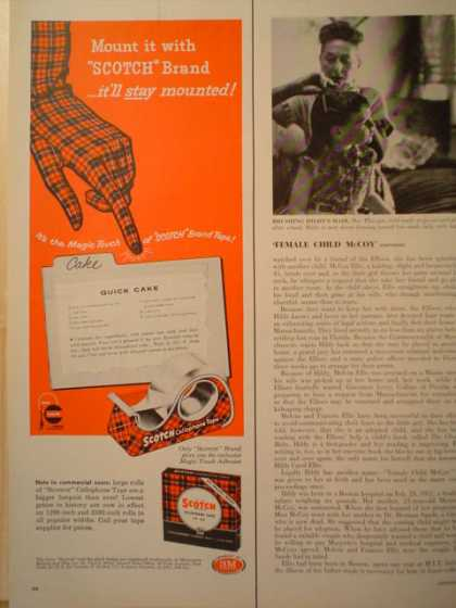 Scotch Tape. Scottish plaid theme half page (1957)